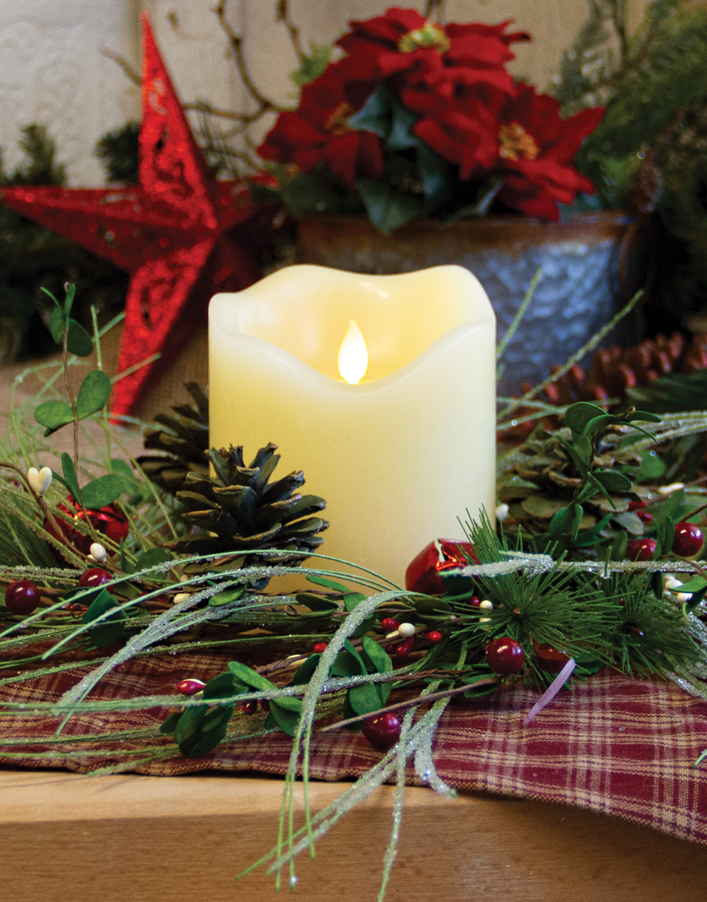 Jingle All The Way Candle Wreath