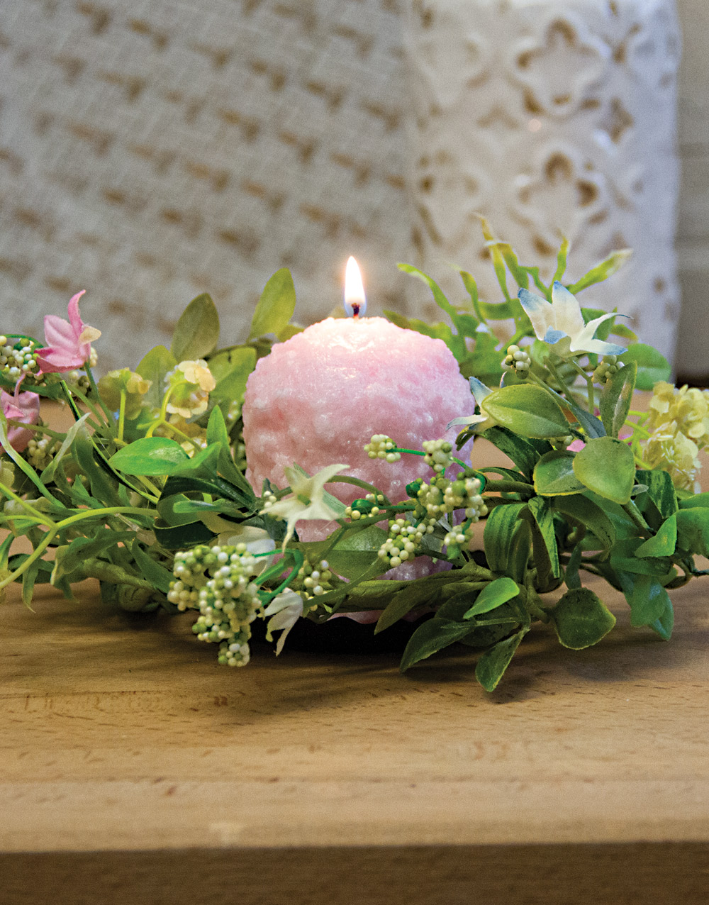 Wild Blossom & Seed 3″ Candle Ring – Spring Mix