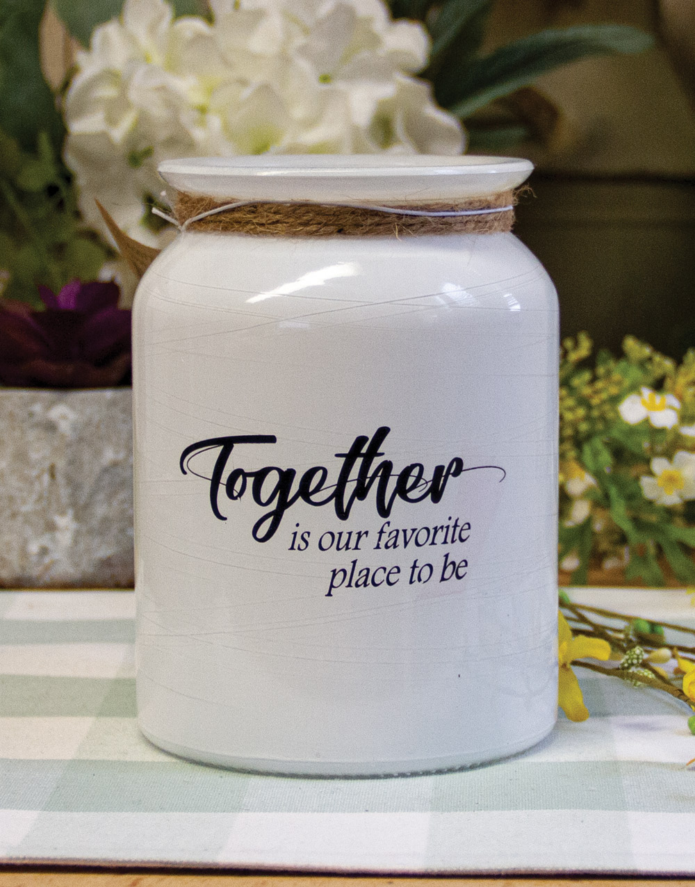 White Together Jar