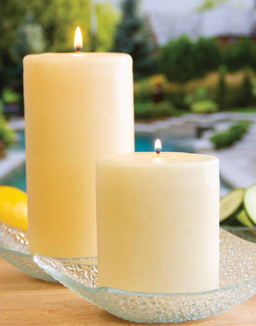 Aurora Pillar Candle – Cucumber Citrus