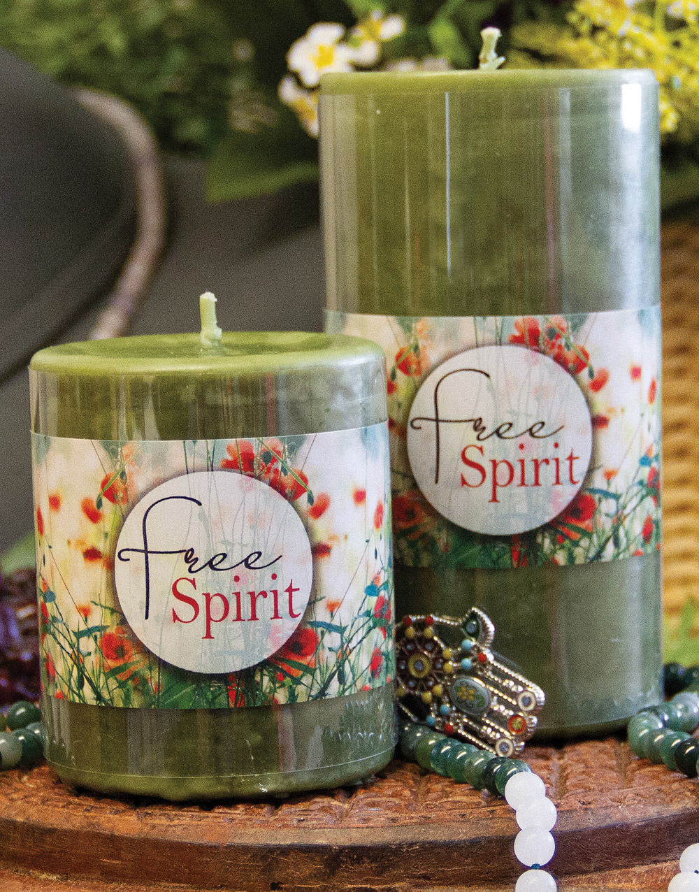 Aurora Pillar Candle – Free Spirit