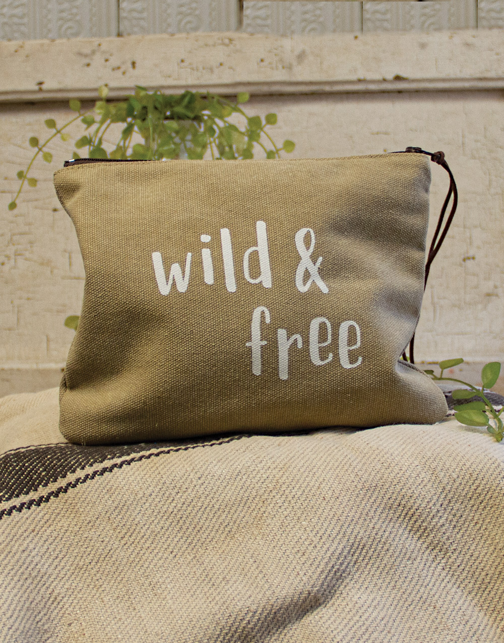 Wild and Free Small Rectangle Pouch