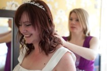 Bride and her bridesmaid preparing for a wedding photographed by Anna Hindocha/Warm Glow Photo