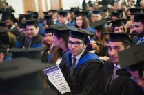 Graduating students at HE awards ceremony.