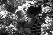 One year old girl with her mother in Sydenham Woods, photographed by Anna Hindocha/Warm Glow Photo