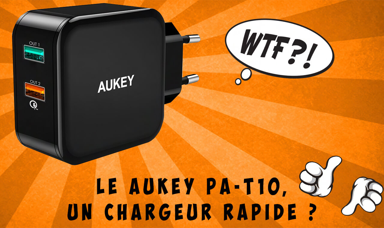 chargeur rapide Aukey PA-T10