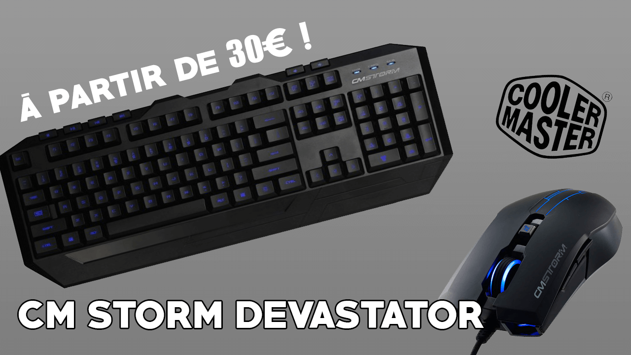 Review d'un pack clavier/souris gamer pas cher ! Le cm storm devastator