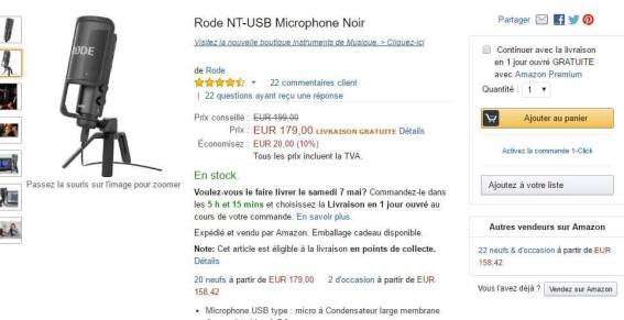 Amazon micro rode nt-usb