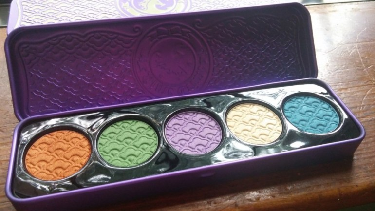 This one is Lime Crime's Amethyst palette. It's similar to the D'antoinette but is more of a shimmer palette.