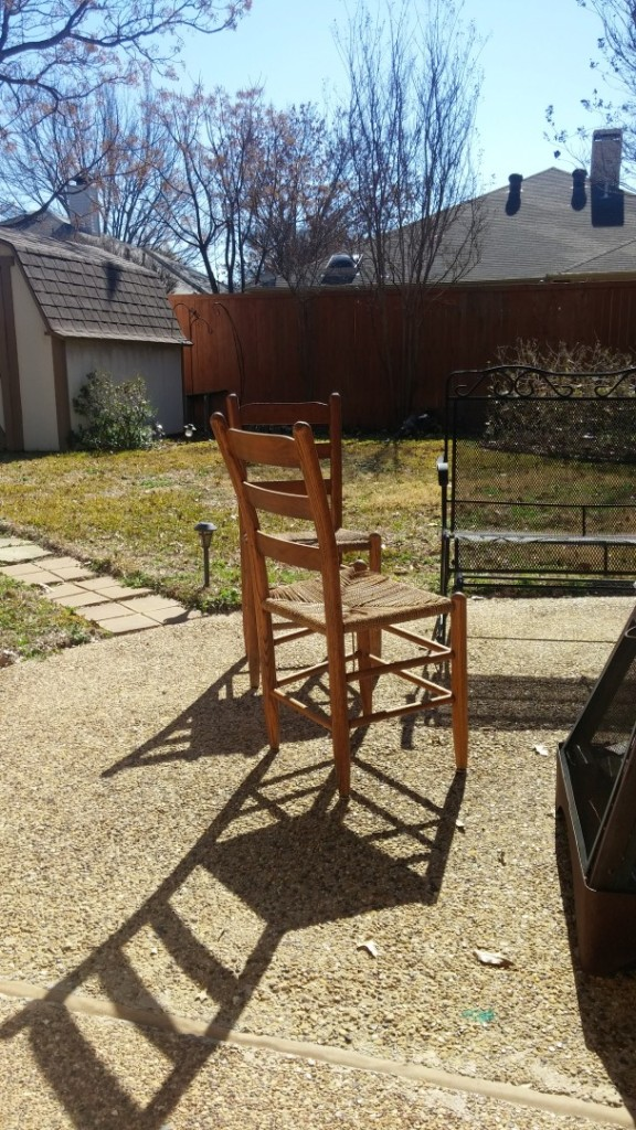 I'm about to DIY the crap out of these chairs. I'm not sure what I'll do but I'm about to get my hands dirty.