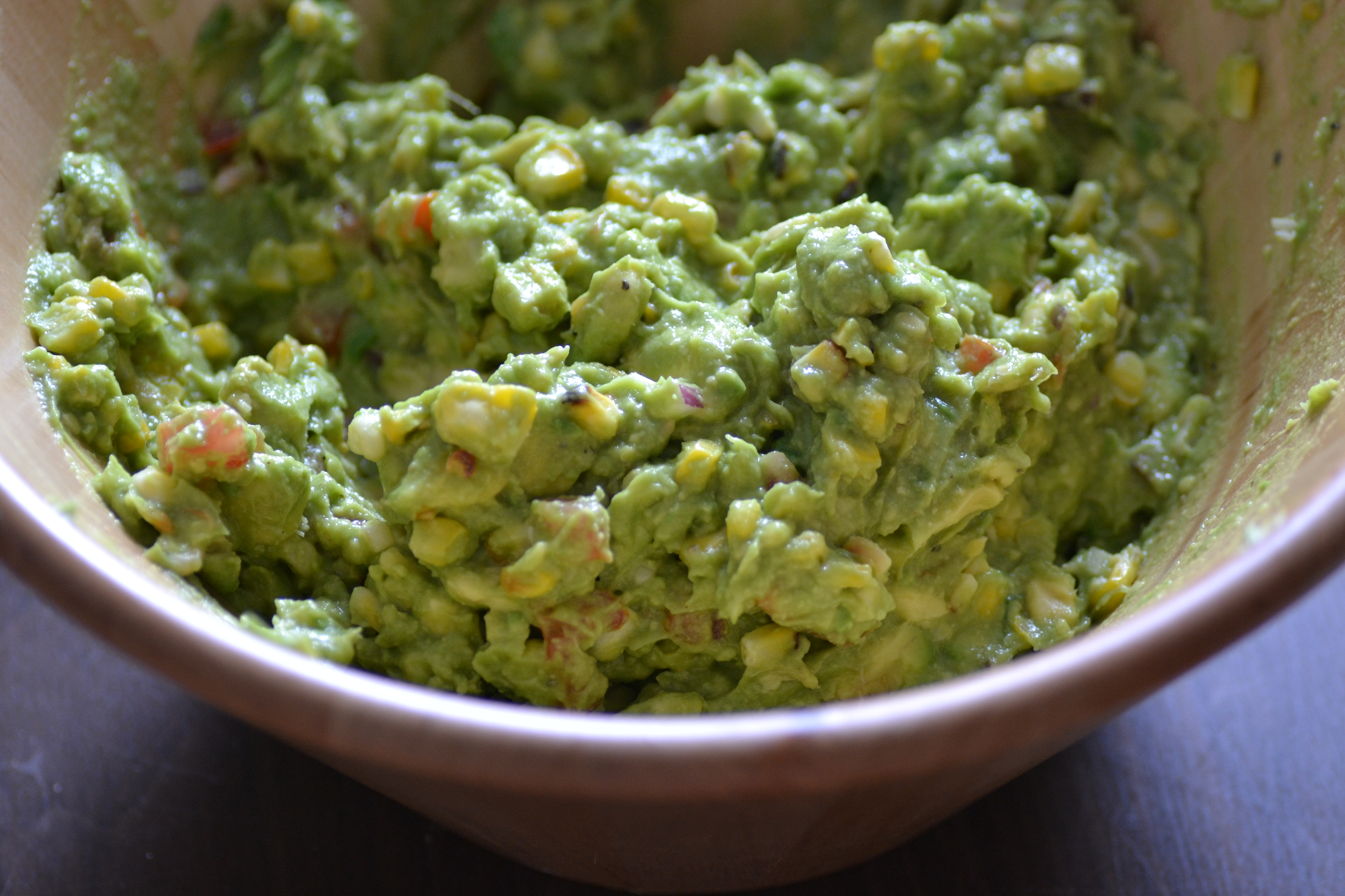 Roasted Corn Guacamole - Warm Vanilla Sugar