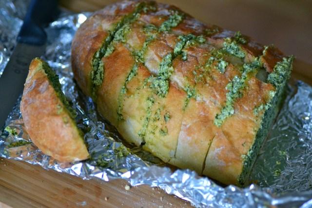 Artichoke Feta Garlic Bread