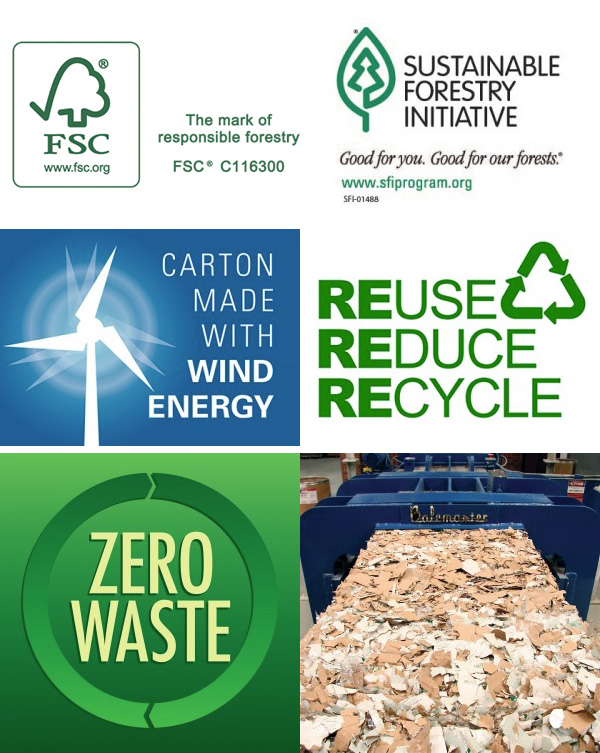 FSC, Logo, Icon, Forest, Stewardship, Council, Forest Stewardship Council, WPB, Warneke, Warneke Paper Box, Wind Energy, Reduce Reuse Recycle, Zero Waste, SFI