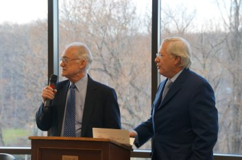 Friends President Emeritus John Crosby and Friends President Rich Merriman