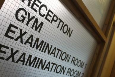 Reception Gym Examination Rooms