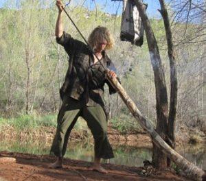 kennedy oneself making didgeridooo