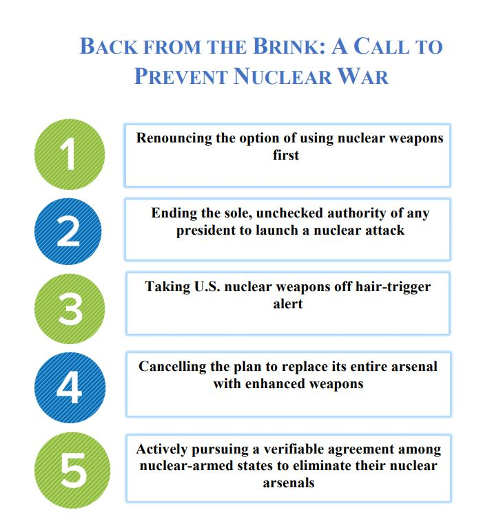 "War Prevention Initiative endorses ""Back from the Brink"""