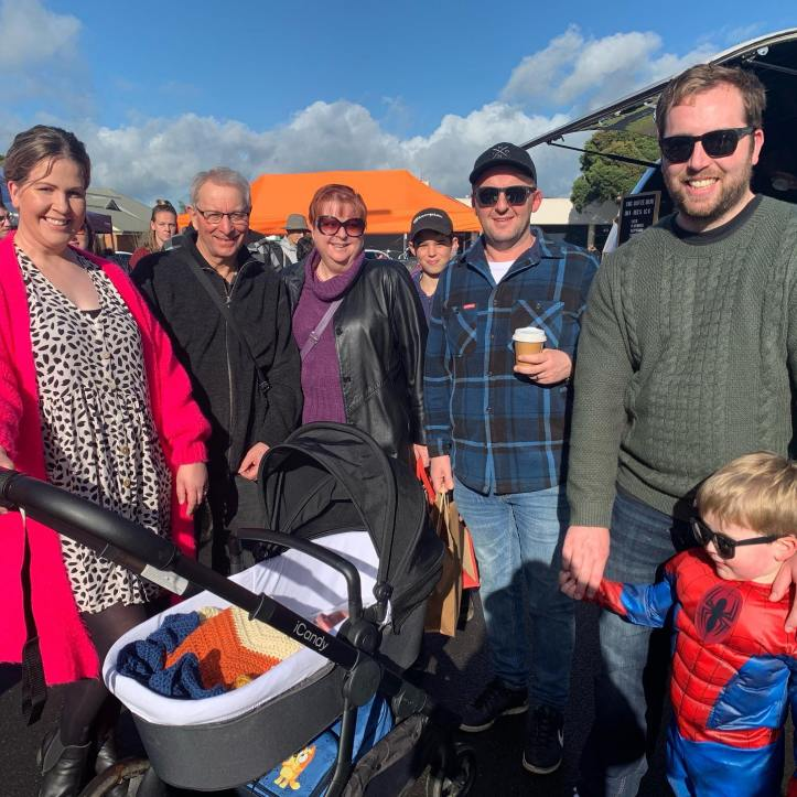 Lockdown is over and the sense of community is BACK! You can feel and hear how excited people are to see each other. People need people!All these guys used to work in an office together … how our world has changed. #BarklyStreetReunion #warragul