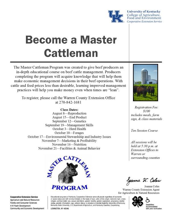 Master Cattleman Flyer 2017