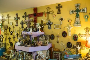 Warren Family Garden Center gift shop has many unique and one of a kind crosses.