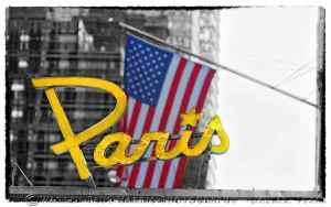 Paris Flag Selective Color