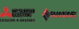 Mitsubishi Electric and Diamond contractor logos