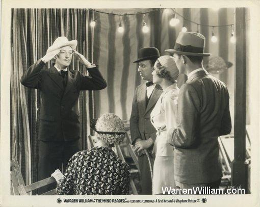 Warren William with Allen Jenkins and Constance Cummings in The Mind Reader