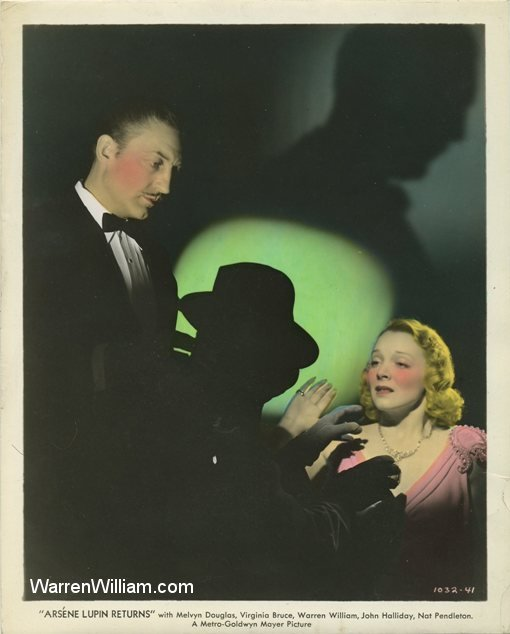 Warren William and Virginia Bruce in Arsene Lupin Returns