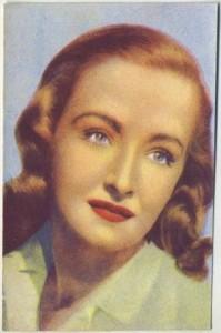 Nina Foch 1951 Italian Sticker