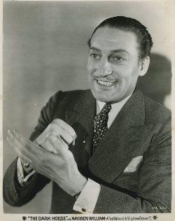 Promotional Photo for Warren William in The Dark Horse