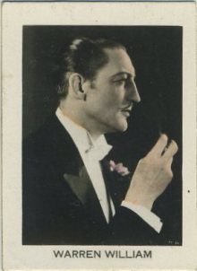 Warren William 1930s Orami Tobacco Card