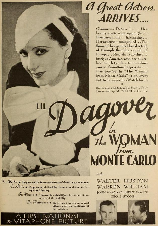 The Woman from Monte Carlo ad