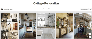 We are starting to collect ideas on Pinterest for the renovation of our tiny cottage.