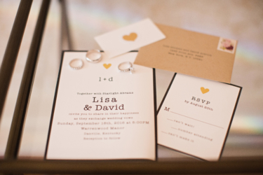 Kentucky estate wedding- Wedding Rings & Simple Invitation Set