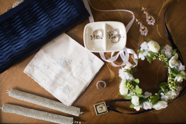 Kentucky estate wedding- Navy & Ivory Bridal Accessories