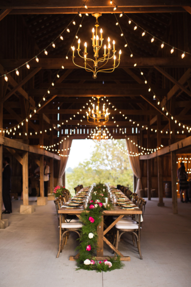 Kentucky summer wedding- rustic elegant barn wedding reception
