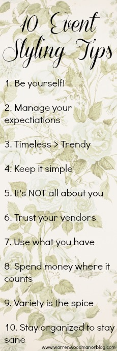 10 Event Styling Tips