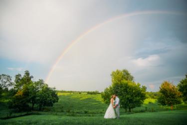 Kentucky Farm Wedding- Perfect Rainbow Photo