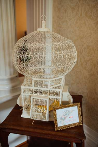 Vintage Ivory Birdcage for Wedding Cards
