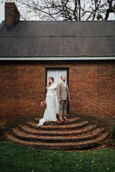 Portrait of Bride & Groom at Central Kentucky Farm Venue