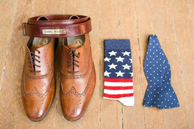 Groom's accessories bring personality to his wedding day at Warrenwood
