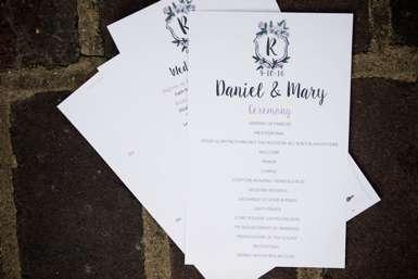 Sime & Timeless Wedding Program