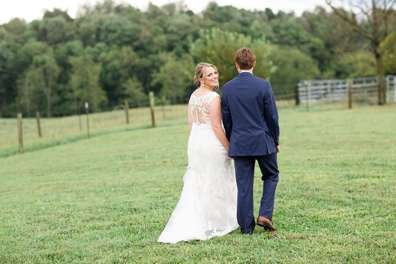 Timelessly Romantic Southern Bride & Groom at farm wedding