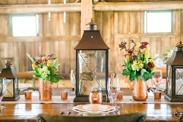 Copper Table Setting from Bryant's Rent-All and Stems LLC