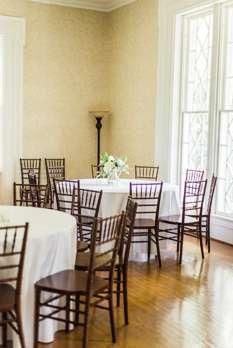 Reception setup in Warrenwood Manor