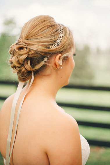 Bridal Updo by Something Blue with headband