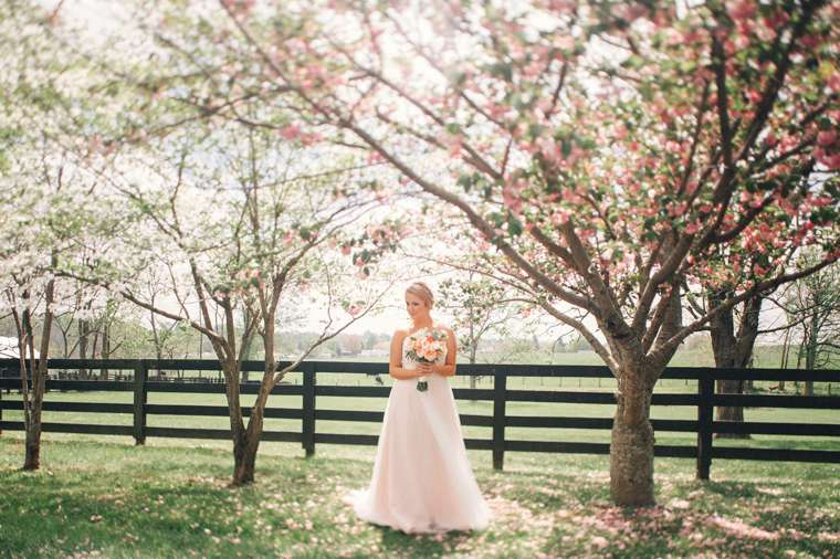 Perfect spring bridal portrait at Warrenwood Manor
