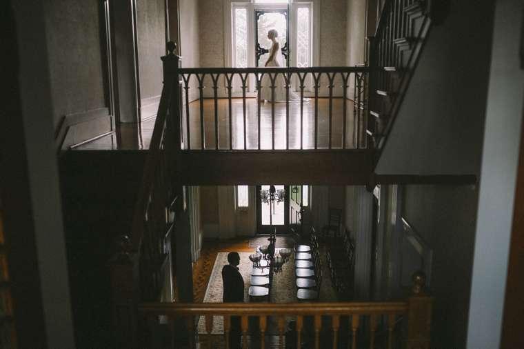Bride & Groom in historic Kentucky mansion