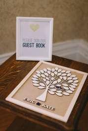 Tree guestbook at Warrenwood Manor summer wedding