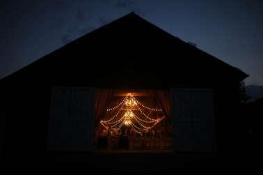 Kentucky summer barn reception